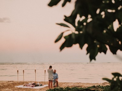 Hawaii Beach Proposal : Nick + Steph