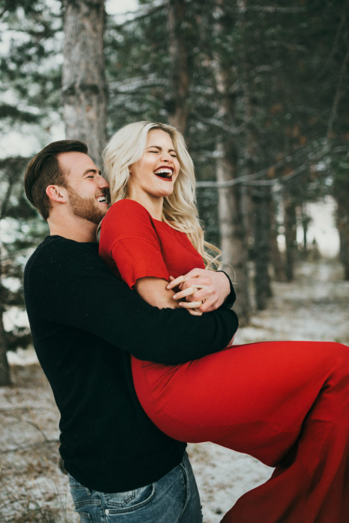 witney carson winter wonderland engagements