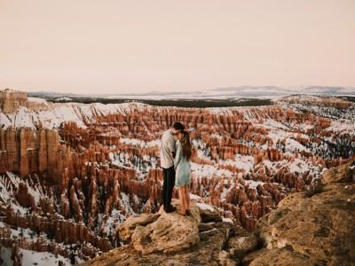 Gabby + Patrick Bryce Canyon Engagements