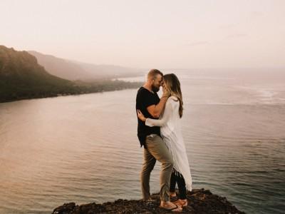 Hawaii Overlook Mountain Engagements : Nick + Steph