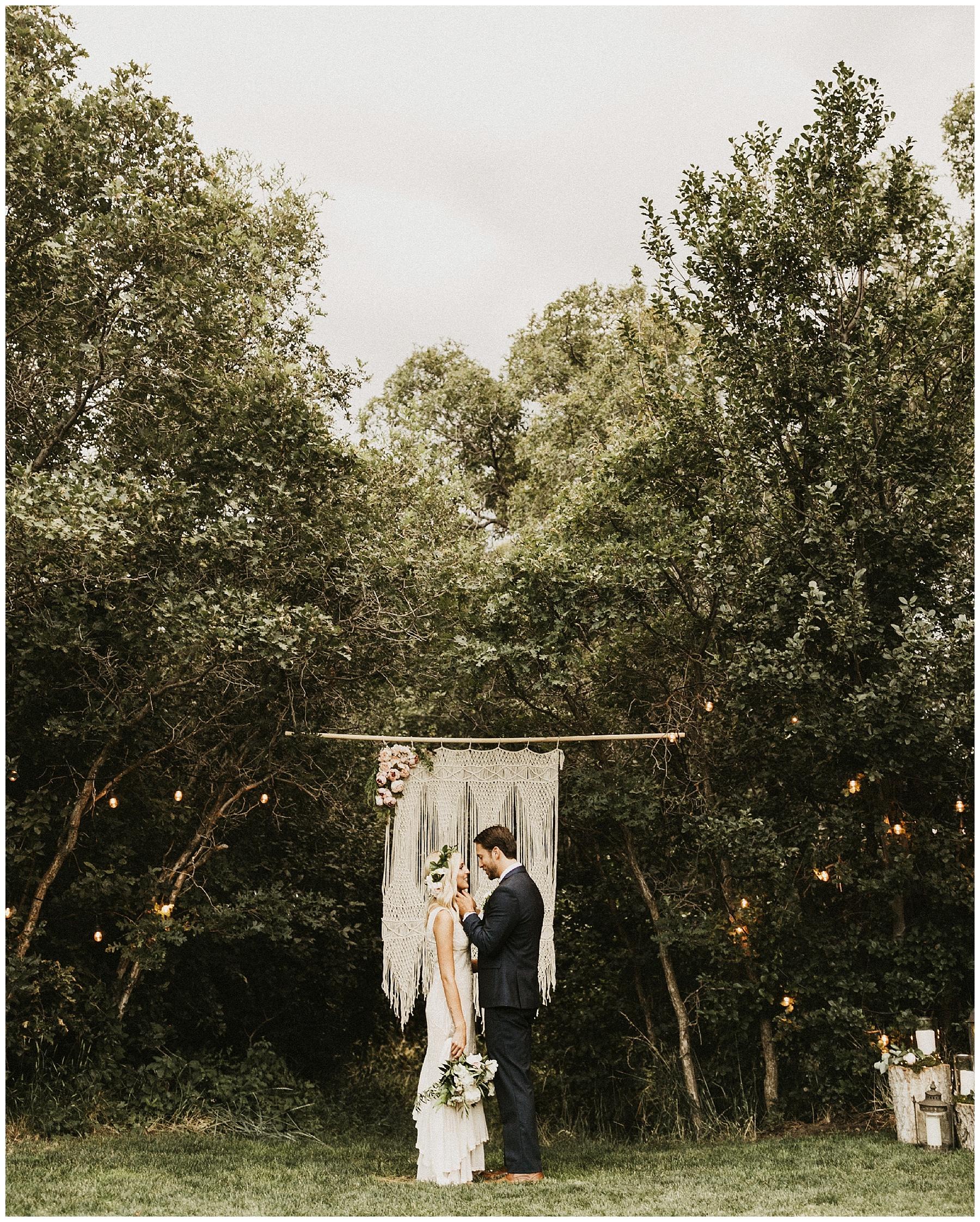 Intimate Backyard Barbeque Wedding