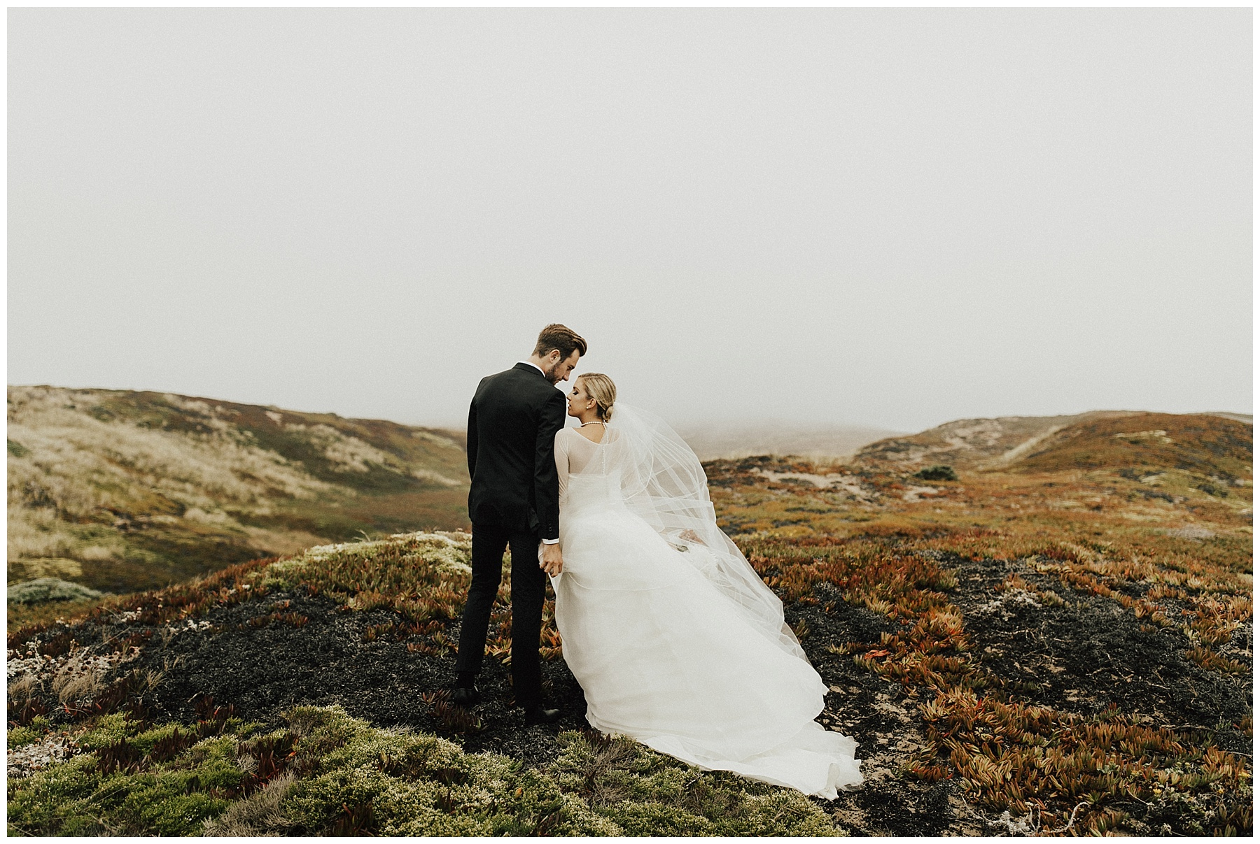 Of Them Before The Wedding Day Out At Point Reyes National Seas They Put Up With Wind And Fog Rain Were Still Giggling Whole Time
